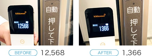 【BEFORE】12,568 → 【AFTER】1,366